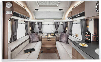 Swift Elegance 560 Front Lounge Leather option