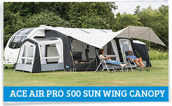 Kampa Ace AIR Pro 500 with Sun Wing Canopy