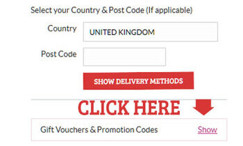 This image shows you where to add the promotional code to qualify for 10% off prices