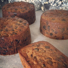 Delicious looking Christmas cakes