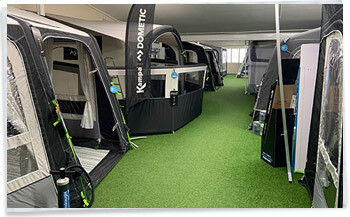 2020 Kampa Dometic awning showroom