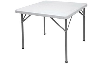 Leisurewize 88cm Square Blow Moulded Table