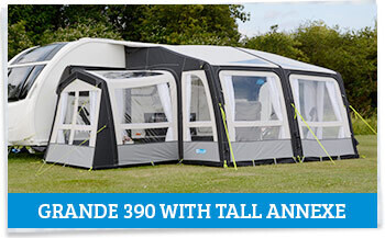 Kampa Rally AIR Pro Grande 390 with Tall Annexe