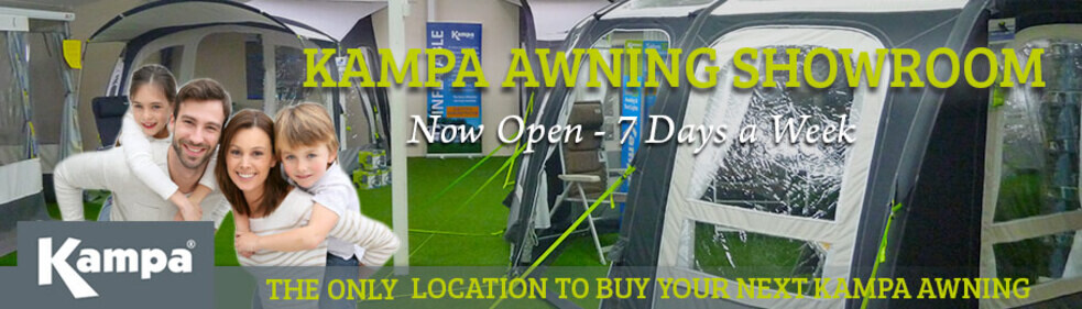 The dedicated Kampa Awning Showroom is now open - Image of New Showroom