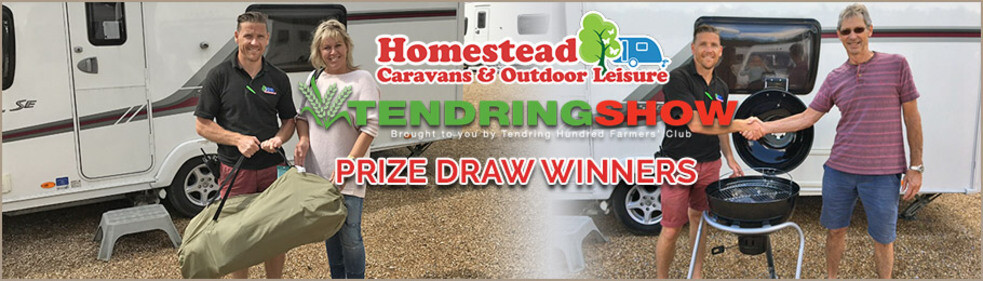 Homestead Caravans 2017 Tendring Hundred Show Prize Draw Winners