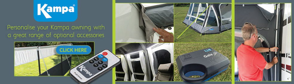 Click here to browse our Kampa Awning Accessories - Image showing a selection of Kampa Accessories