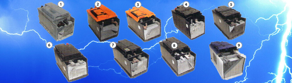 Caravan 12V Leisure Battery Independent Test - image shows batteries included in the test