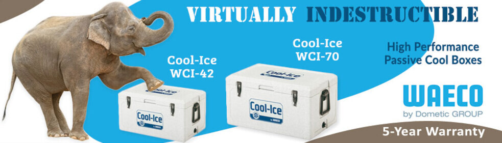 Indestructible Cool Box - Elephant Standing on Waeco Cool-Ice Cool Box