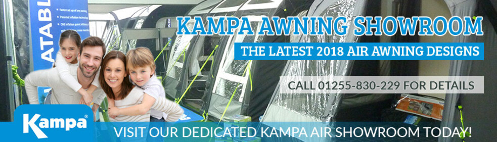 Visit Homestead Caravans dedicated Kampa Awning Showroom