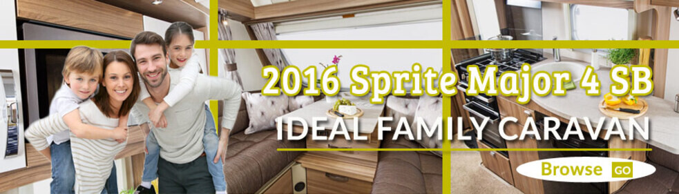 Take a look at the award winning family caravan the 2016 Sprite Major 4 SB - just click here