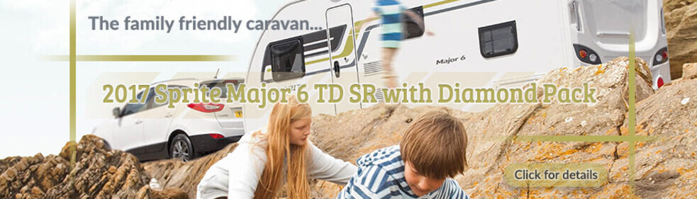 2017 Sprite Major 6 TD SR is the Perfect Family Caravan - Banner depicting kids playing outside caravan