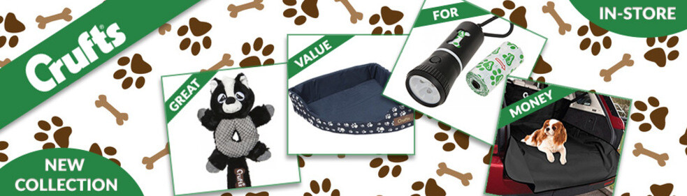 Click to browse are new Crufts and Playful Pets pet accessory collections