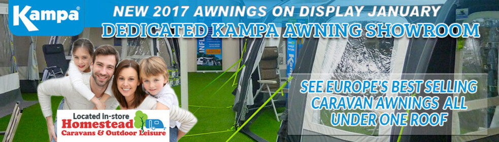 Visit Homestead Caravans dedicated Kampa awning showroom - picture of showroom