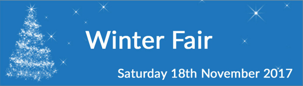 Winter Fair advertisement banner - Saturday 18th November 2017