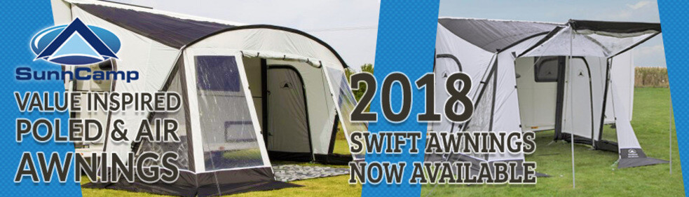 Click To View Our Range Of 2018 SunnCamp Swift Awnings
