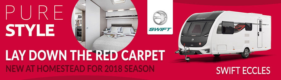 2018 Swift Eccles is now available from Homestead Caravans for the very first time