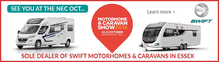 See you on the Swift Caravan and Motorhome stand at NEC Motorhome & Caravan Show 2018